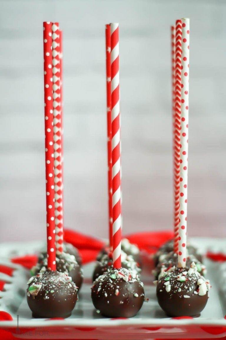 """<p>What's black and white and red all over? These chocolate peppermint (with cream cheese icing!) cake pops. </p><p><strong>Get the recipe at <a href=""""https://whatshouldimakefor.com/chocolate-peppermint-cake-pops/"""" rel=""""nofollow noopener"""" target=""""_blank"""" data-ylk=""""slk:What Should I Make For"""" class=""""link rapid-noclick-resp"""">What Should I Make For</a>. </strong></p><p><strong><strong><a class=""""link rapid-noclick-resp"""" href=""""https://www.amazon.com/Lollipop-sticks-100-count-inch/dp/B000W5CGR8?tag=syn-yahoo-20&ascsubtag=%5Bartid%7C10050.g.22841709%5Bsrc%7Cyahoo-us"""" rel=""""nofollow noopener"""" target=""""_blank"""" data-ylk=""""slk:SHOP LOLLIPOP STICKS"""">SHOP LOLLIPOP STICKS</a></strong><br></strong></p>"""