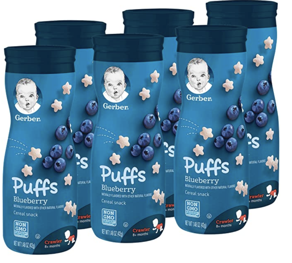 Gerber Puffs Cereal Snack, Blueberry. (PHOTO: Amazon)