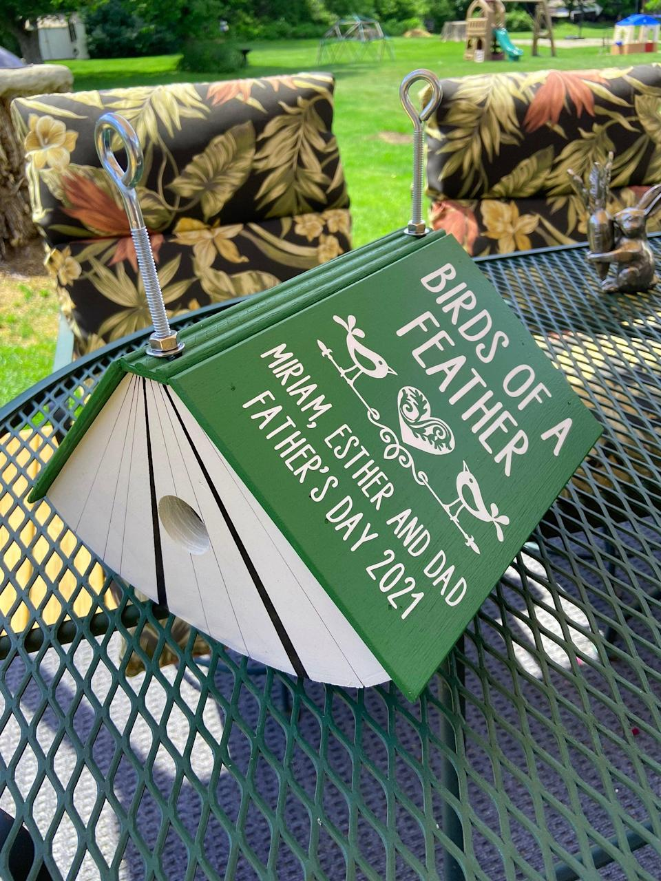 <p>They can invite all the birds to the yard with this <span>Bookworm Birdhouse</span> ($50).</p>