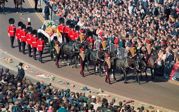 Crowds watch Princess Diana's funeral procession - PA Archive/Barry Batchelor