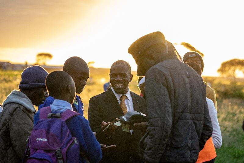The commuter service was only revived in November after being suspended for 13 years as the rail network collapsed under President Robert Mugabe (AFP Photo/Zinyange Auntony)