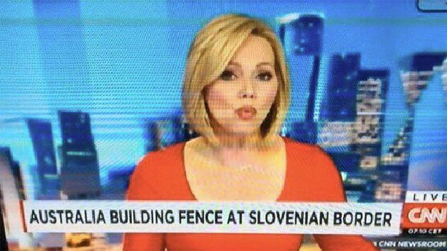 According to CNN, Australia is building a fence on the border of Slovenia. Photo: Twitter