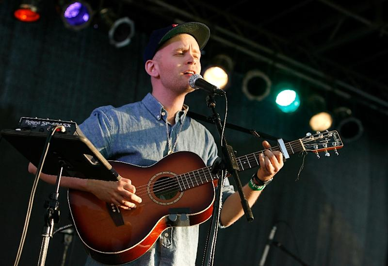 """Jens Lekman performing in 2012 -- that year's album """"I Know What Love Isn't"""" received a more subdued reaction than his previous work (AFP Photo/Mike Lawrie)"""