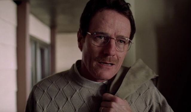 Bryan Cranston plays Walter White in the pilot of <em>Breaking Bad</em>. (Screengrab: Netflix)