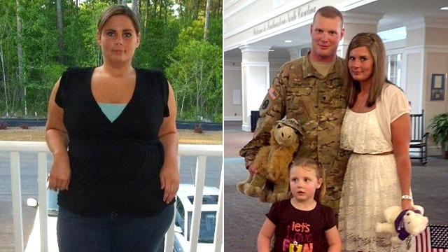 Army Wife Surprises Husband With 96-Pound Weight Loss on His Return From Afghanistan