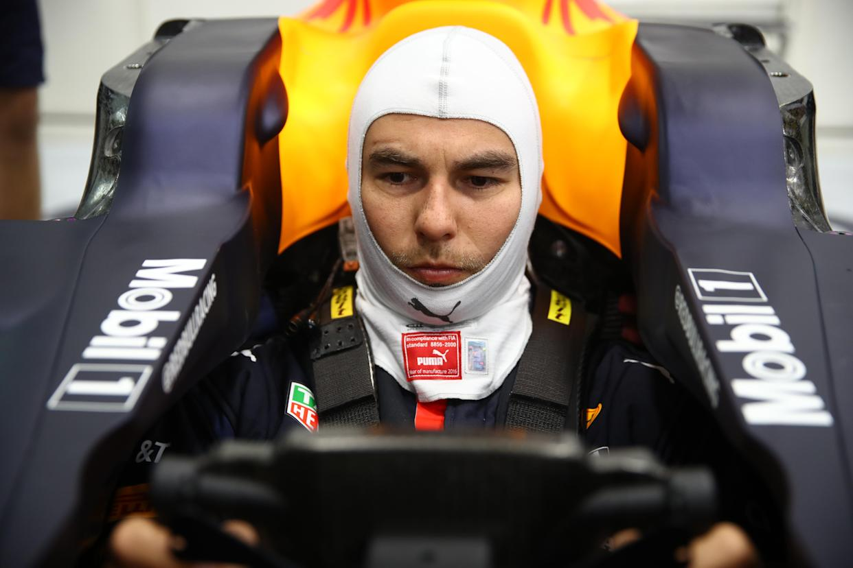 Sergio Perez Visits Red Bull Racing Factory