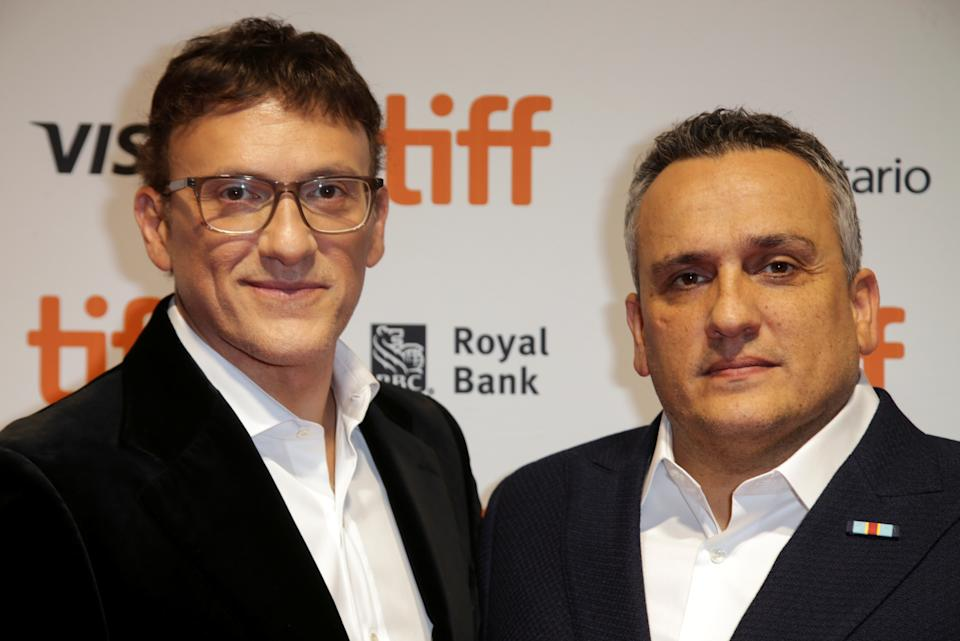 """Producers Joe and Anthony Russo pose during the premiere of """"Mosul"""" at the Toronto International Film Festival (TIFF) in Toronto, Ontario, Canada September 9, 2019.  REUTERS/Chris Helgren"""