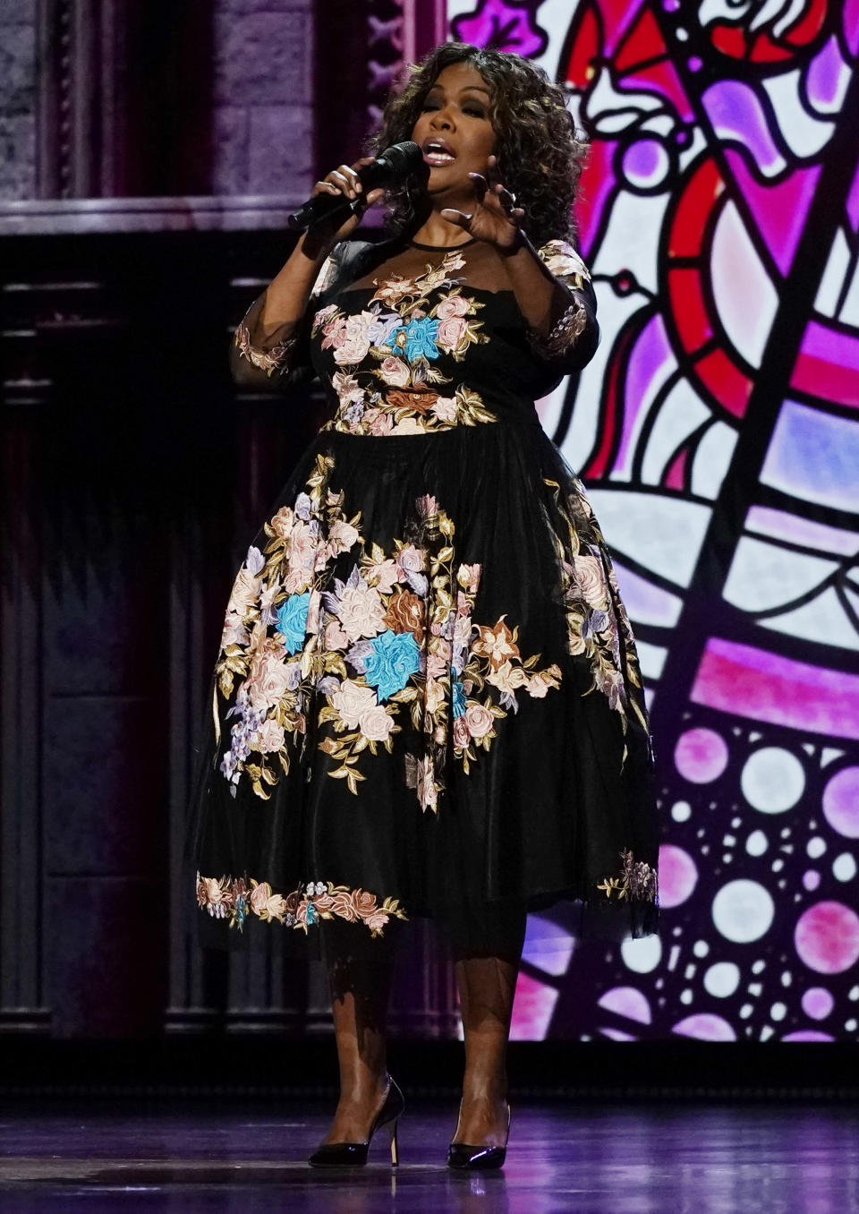 CeCe Winans performs at the 56th annual Academy of Country Music Awards on Saturday, April 17, 2021, at the Grand Ole Opry in Nashville, Tenn. The awards show airs on April 18 with both live and prerecorded segments. (AP Photo/Mark Humphrey)