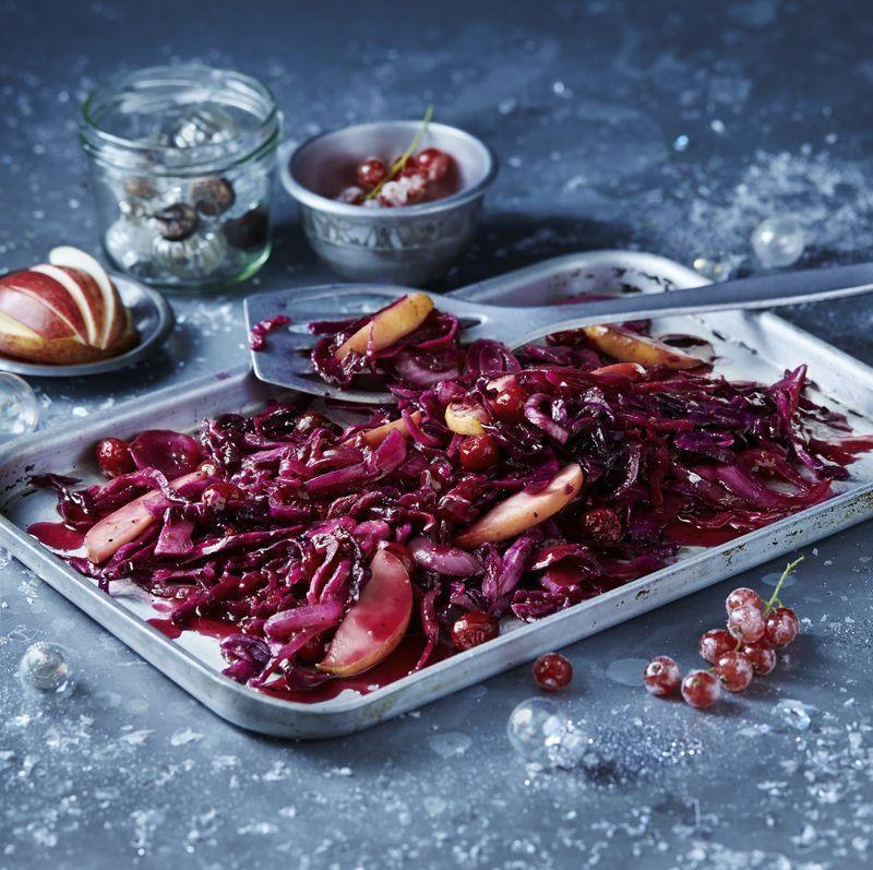 "<p>A <a href=""https://www.goodhousekeeping.com/uk/christmas/"" rel=""nofollow noopener"" target=""_blank"" data-ylk=""slk:Christmas"" class=""link rapid-noclick-resp"">Christmas</a> dinner isn't complete without a side serving of red cabbage. </p><p>It's so easy to prepare and can be made in advance to give you more time on the day. </p><p>We've put together a list of our favourite red cabbage recipes from a classic red cabbage to a recipe that includes honey and mustard. If you are looking for something extra festive we have a recipe for <a href=""https://www.goodhousekeeping.com/uk/food/food-reviews/g23929143/the-best-mulled-wine-for-christmas-this-year/"" rel=""nofollow noopener"" target=""_blank"" data-ylk=""slk:mulled"" class=""link rapid-noclick-resp"">mulled</a> cabbage.</p>"