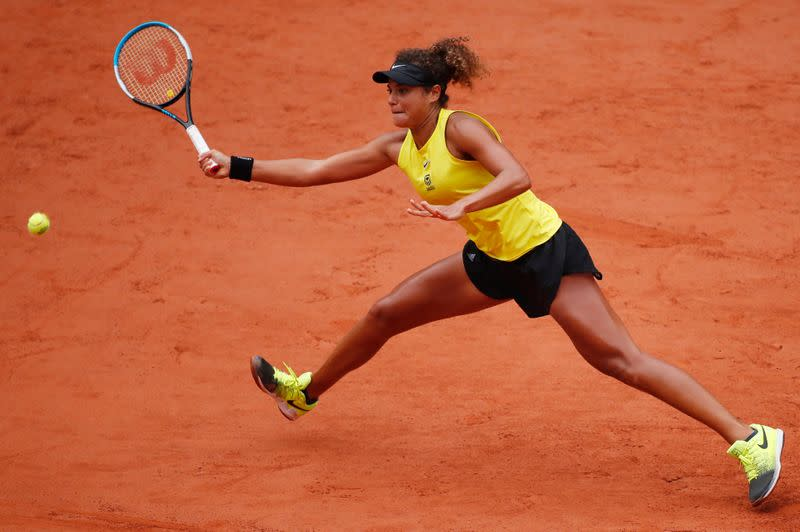 Egypt's Sherif exits French Open knowing she belongs at Slams