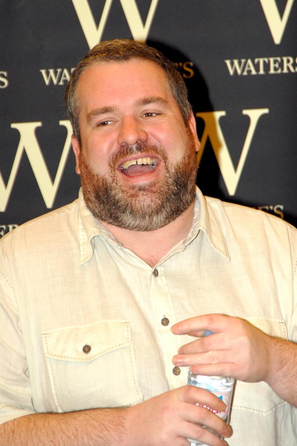 Chris Moyles at his book signing in 2006. (Getty Images)