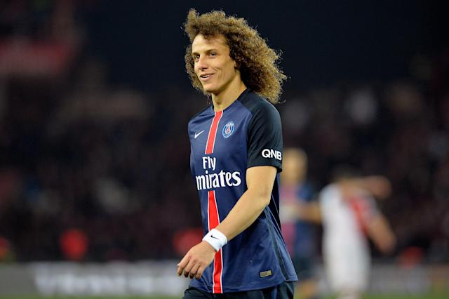 PSG broke a seven year record for the largest transfer fee paid for a defender when they captured the signature of Chelsea's David Luiz in June 2014. The Brazilian put pen to paper on a five year contract worth £50 million for Chelsea. (Credit: Getty Images)