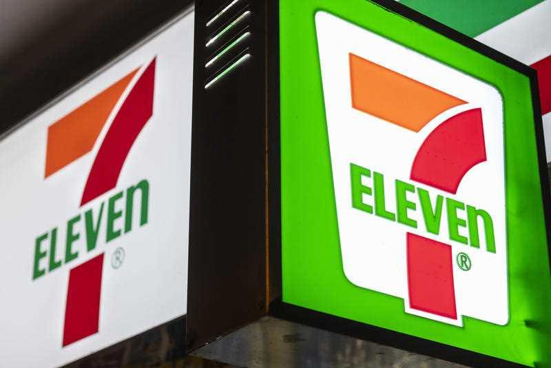 A 7-Eleven sign is pictured.