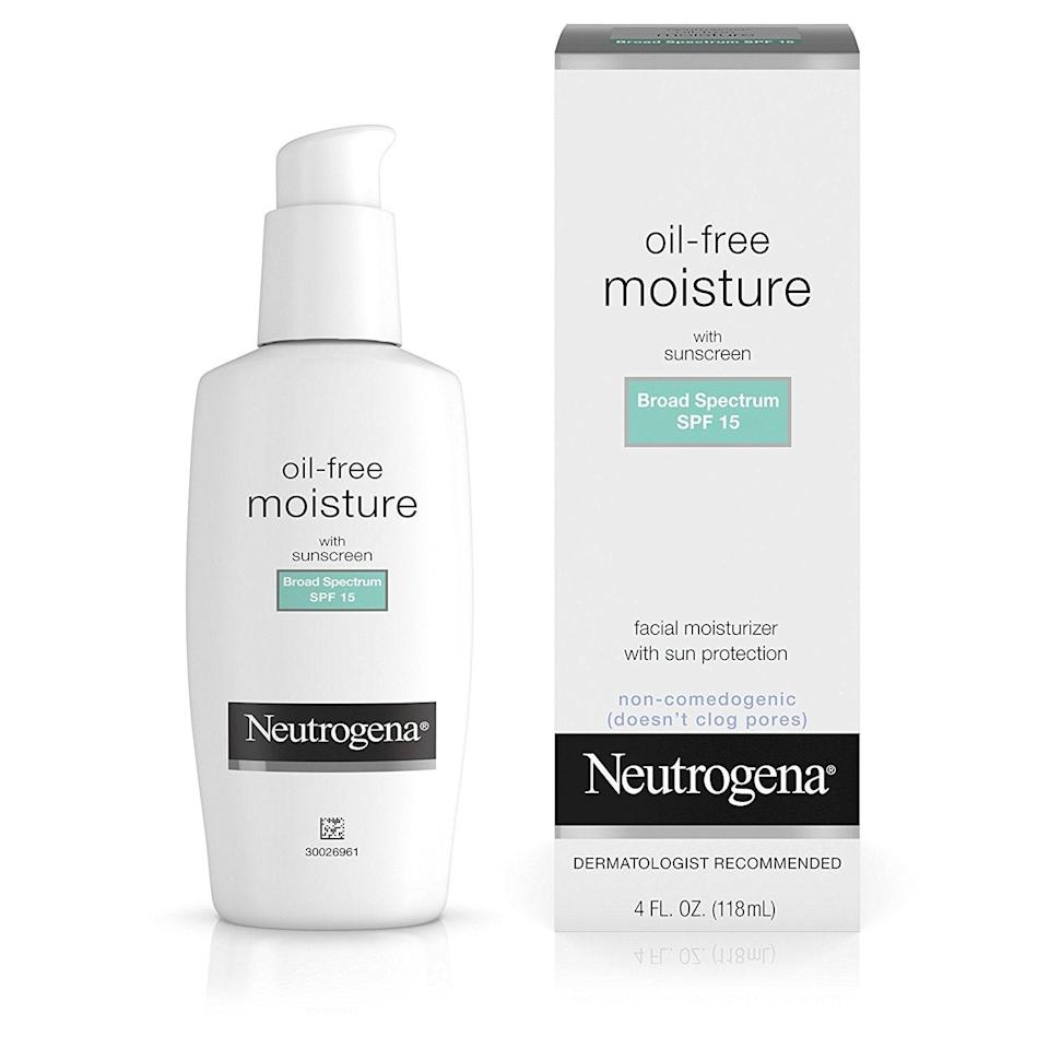 """<p>When in doubt, go to the drugstore to nab this classic. It's no-frills, but it doesn't need to do any fancy tricks to impress. It hydrates skin all day with a lightweight, nourishing formula. Plus, it comes in four different varieties, so no matter your skin concerns, there's an option for you.</p> <p><strong>$12</strong> (<a href=""""https://shop-links.co/1681643243553836636"""" rel=""""nofollow noopener"""" target=""""_blank"""" data-ylk=""""slk:Shop Now"""" class=""""link rapid-noclick-resp"""">Shop Now</a>)</p>"""