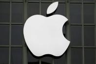 FILE PHOTO: The Apple Inc logo is shown outside the company's 2016 Worldwide Developers Conference in San Francisco