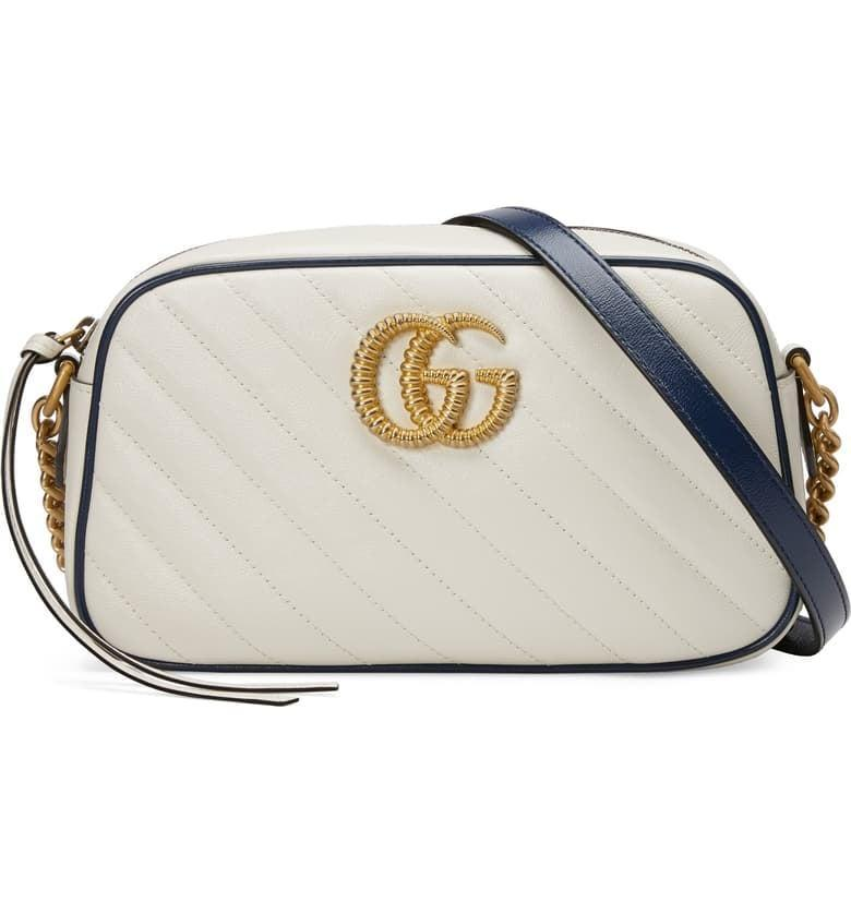 <p>Give your wardrobe a total refresh with the cool <span>Gucci Small GG 2.0 Matelassè Leather Camera Bag</span> ($1,390).</p>