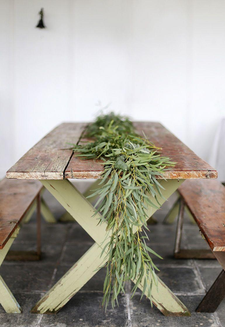 """<p>Make your holiday table look extra special this year by adding a garland fashioned out of live greenery, like parvo and eucalyptus. </p><p><a href=""""https://themerrythought.com/diy/diy-greenery-table-garland/"""" rel=""""nofollow noopener"""" target=""""_blank"""" data-ylk=""""slk:Get the tutorial."""" class=""""link rapid-noclick-resp"""">Get the tutorial.</a></p><p><a class=""""link rapid-noclick-resp"""" href=""""https://www.amazon.com/dp/B07W6TWD6V/?tag=syn-yahoo-20&ascsubtag=%5Bartid%7C10072.g.37499128%5Bsrc%7Cyahoo-us"""" rel=""""nofollow noopener"""" target=""""_blank"""" data-ylk=""""slk:SHOP FLORAL WIRE"""">SHOP FLORAL WIRE</a></p>"""