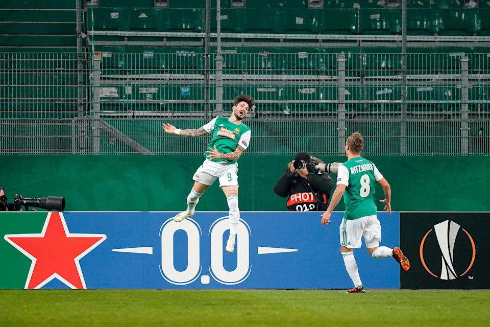 Taxiarchis Fountas celebrates giving Rapid Vienna the leadGetty Images