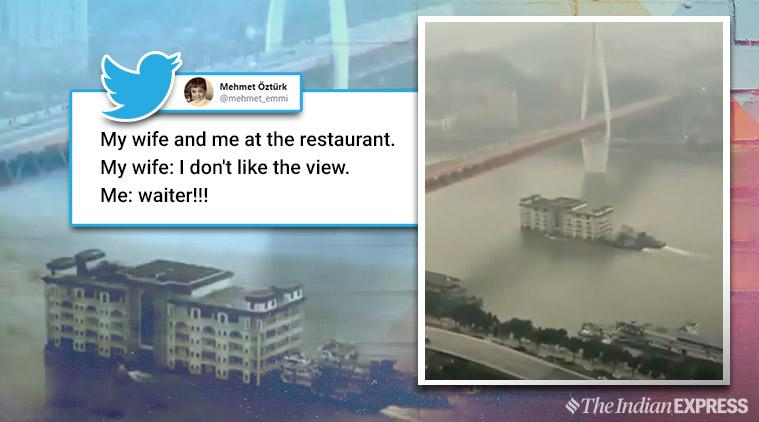 china floating restaurant viral video, Yangtze River, floating restaurant, China floating restaurant viral video,