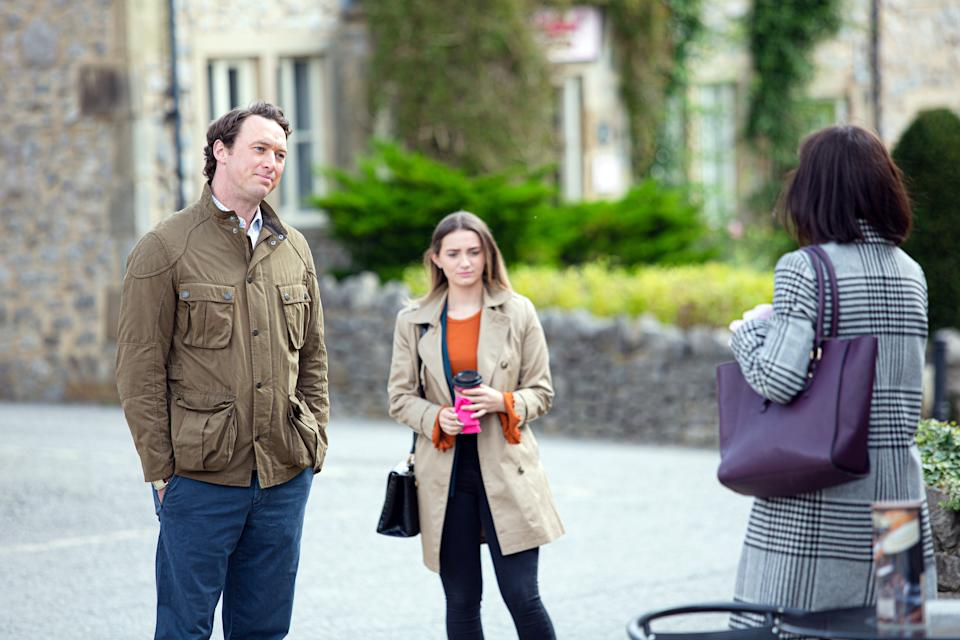Gabby Thomas and Liam Cavanagh are set to have their lives disrupted when Bernice turns up. (Mark Bruce/ITV)