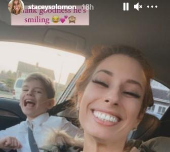 Stacey Solomon's son Zachary seemed unphased by being forgotten. (Instagram)