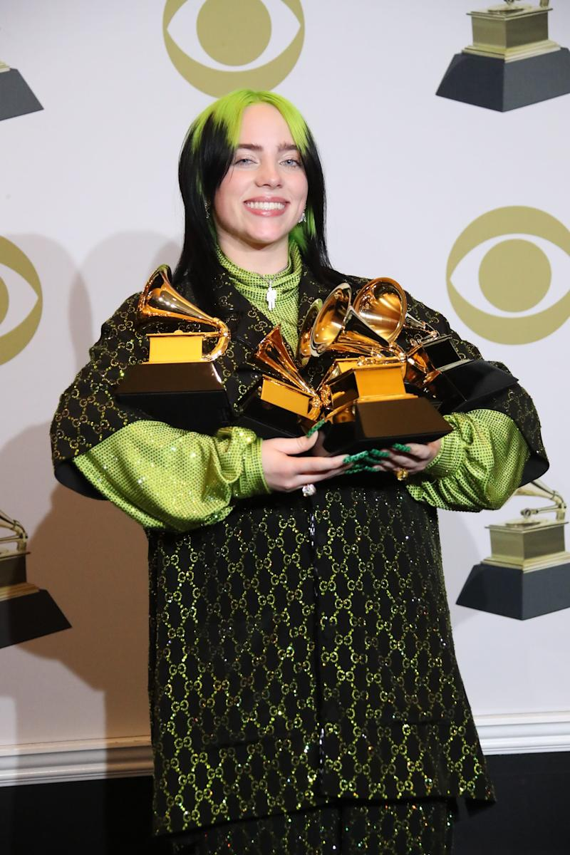 Billie Eilish is the first person to sweep the four major Grammys – album, record and song of the year, plus best new artist – since Christopher Cross in 1981.