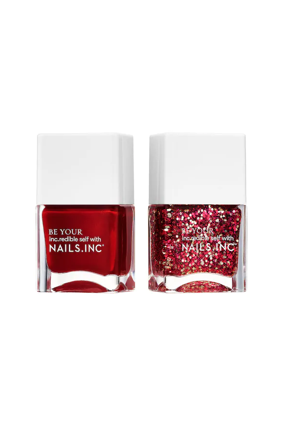 """<p><strong>NAILS INC.</strong></p><p>sephora.com</p><p><strong>$15.00</strong></p><p><a href=""""https://go.redirectingat.com?id=74968X1596630&url=https%3A%2F%2Fwww.sephora.com%2Fproduct%2Fjoy-to-world-nail-duo-P451649&sref=https%3A%2F%2Fwww.marieclaire.com%2Fbeauty%2Fnews%2Fg3310%2Fbest-nail-colors-winter%2F"""" rel=""""nofollow noopener"""" target=""""_blank"""" data-ylk=""""slk:SHOP IT"""" class=""""link rapid-noclick-resp"""">SHOP IT</a></p><p>Nothing feels more festive than red pearl polish and ruby and gold glitter. Now, all you need is a glass of nutmeg (or champagne) and christmas carols playing in the background. </p>"""