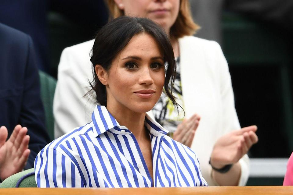 """<p>This past summer, Meghan flew from England to the United States in order to support her close friend <a href=""""https://www.womenshealthmag.com/life/a28938344/meghan-markle-solo-trip-serena-williams-us-open-final/"""" rel=""""nofollow noopener"""" target=""""_blank"""" data-ylk=""""slk:Serena Williams"""" class=""""link rapid-noclick-resp"""">Serena Williams</a> as she competed in the US Open final. Best. Friend. Ever. </p>"""