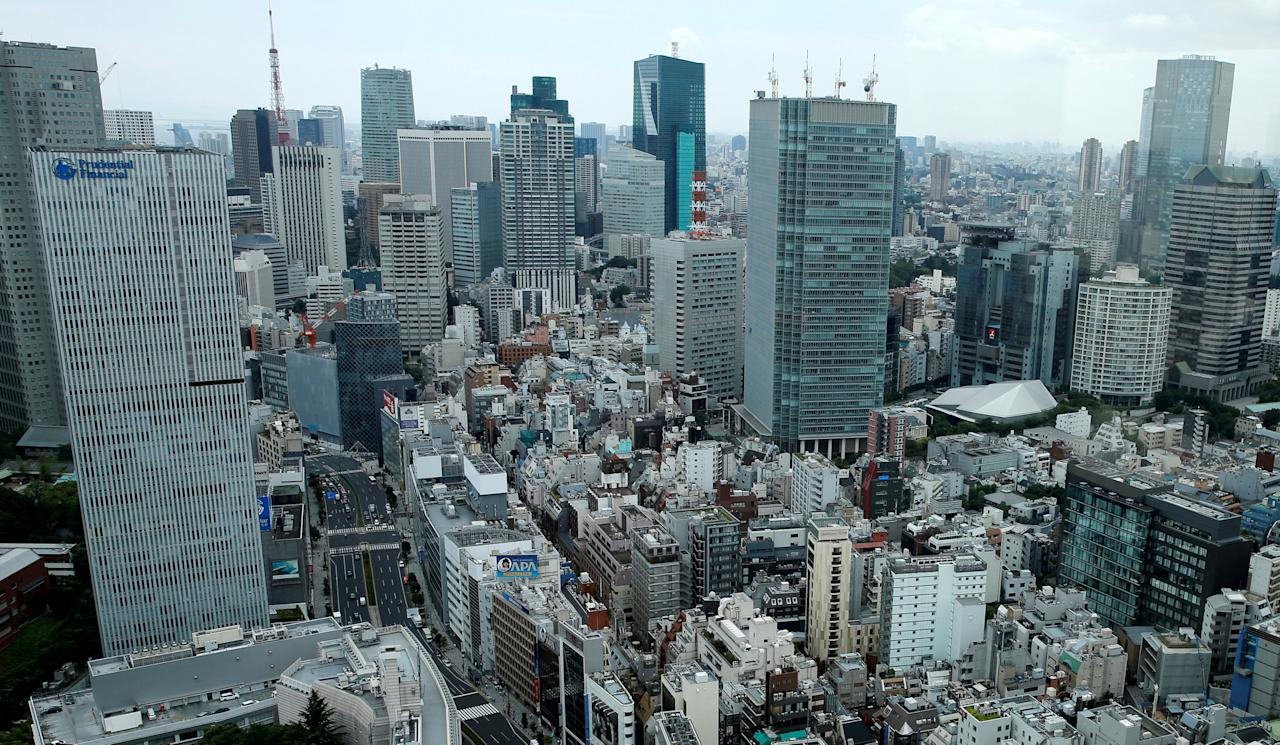 FILE PHOTO: Tokyo's Akasaka business district is seen in Tokyo, Japan July 19, 2016.   REUTERS/Toru Hanai/File Photo