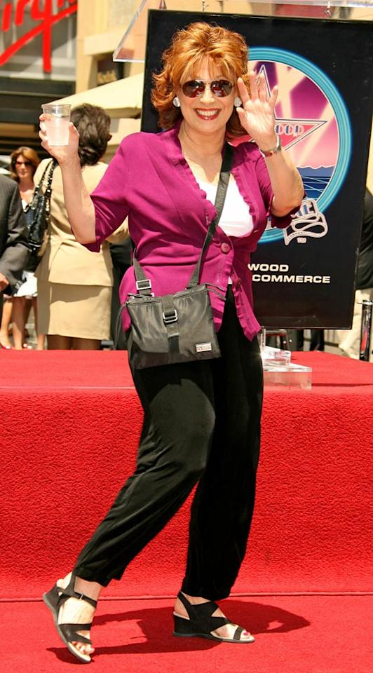 "Joy Behar shows up to support her co-host and boss. Russell Einhorn/<a href=""http://www.splashnewsonline.com"" target=""new"">Splash News</a> - June 14, 2007"
