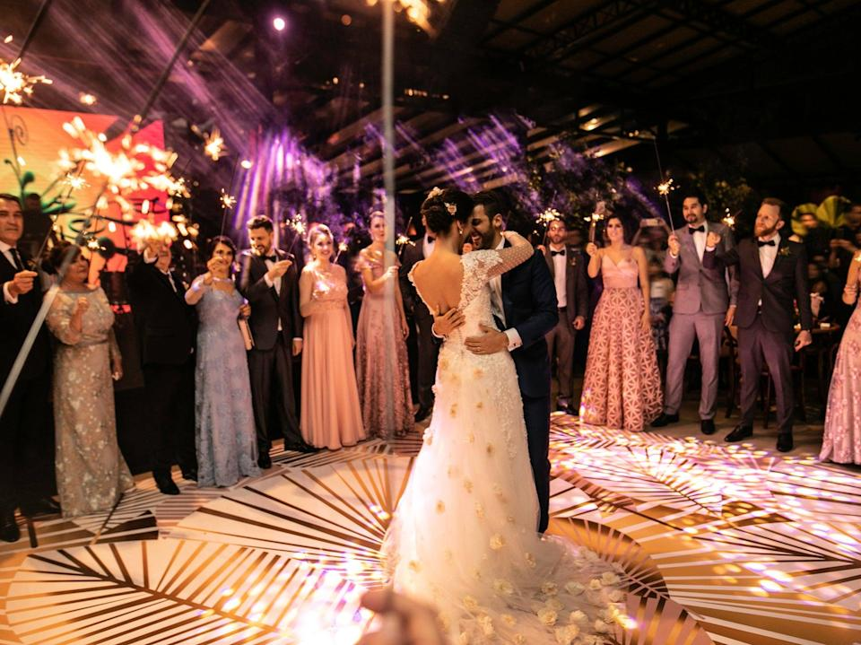 Large weddings with more than 30 guests will be allowed to resume from 21 June 2021, ministers are reportedly set to announce (Getty Images)