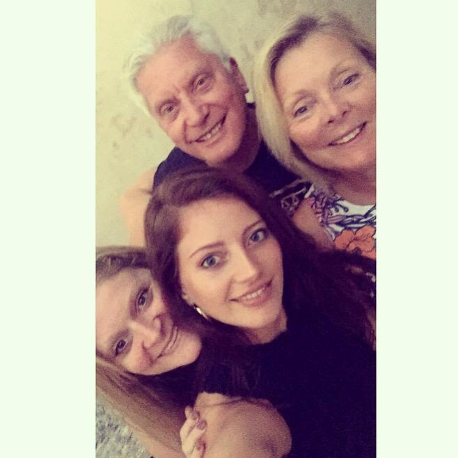 Charlotte is pictured with her parents and sister Gemma. The aggressive cancer is typically found in people over the age of 50.