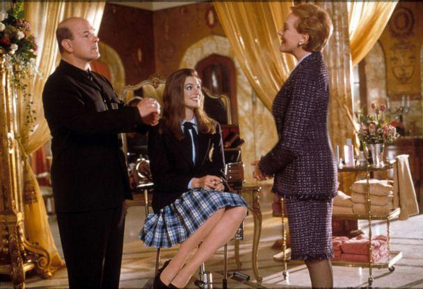 PHOTO: Larry Miller, Anne Hathaway and Julie Andrews in a scene from 'The Princess Diaries.' (Moviestore/Shutterstock)