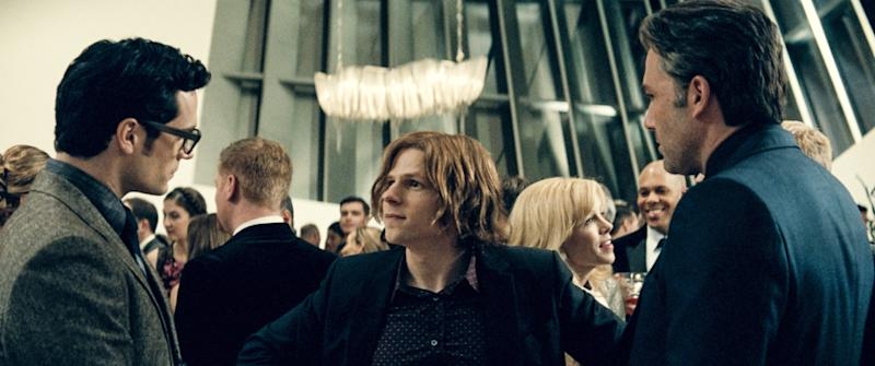 Eisenberg's Lex Luthor orchestrates a battle between Superman (Henry Cavill) and Batman (Ben Affleck) in 'Batman v. Superman: Dawn of Justice' (Photo: Warner Bros. / Courtesy Everett Collection)