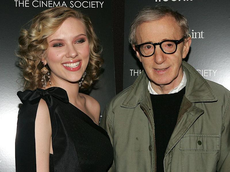 Scarlett Johansson and Woody Allen at the New York premiere of 'Match Point' in 2005: Peter Kramer/Getty Images