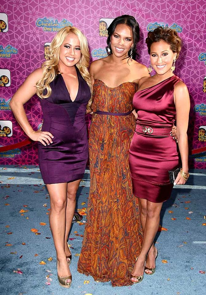 """The Cheetah Girls -- Sabrina Bryan, Kiely Williams, and Adrienne Bailon -- arrive at the premiere of their new movie """"The Cheetah Girls: One World."""" With those tans, they should be renamed the Cheeto Girls! Alberto E. Rodriguez/<a href=""""http://www.gettyimages.com/"""" target=""""new"""">GettyImages.com</a> - August 12, 2008"""
