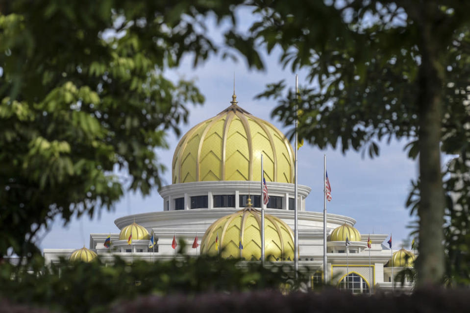 The Agong will continue to hold an audience with political party leaders at Istana Negara tomorrow until June 11. — Bernama pic