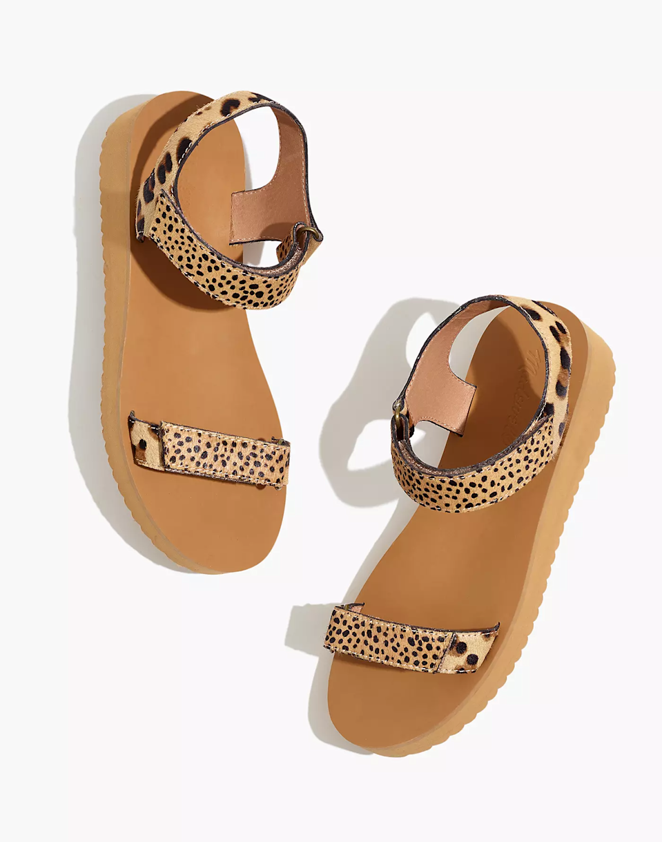 """<h2>Madewell</h2><br><strong>Dates: </strong>Ongoing<br><strong>Sale: </strong>Up to 30% off select summer clothing, shoes, and accessories<br><strong>Promo Code: </strong>None<br><br><em>Shop <strong><a href=""""https://www.madewell.com/womens/sale?scroll=21"""" rel=""""nofollow noopener"""" target=""""_blank"""" data-ylk=""""slk:Madewell"""" class=""""link rapid-noclick-resp"""">Madewell</a></strong></em><br><br><br><strong>Madewell</strong> The Maggie Sandal in Spot Mix Calf Hair, $, available at <a href=""""https://go.skimresources.com/?id=30283X879131&url=https%3A%2F%2Fwww.madewell.com%2Fthe-maggie-sandal-in-spot-mix-calf-hair-MC715.html%3Fdwvar_MC715_color%3DEB9524%26cgid%3Dsale-auto%23start%3D21"""" rel=""""nofollow noopener"""" target=""""_blank"""" data-ylk=""""slk:Madewell"""" class=""""link rapid-noclick-resp"""">Madewell</a>"""