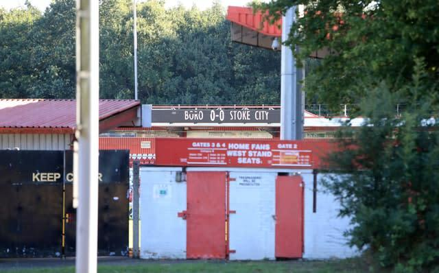 Stevenage's gates will be closed for some time (Tim Goode/PA)