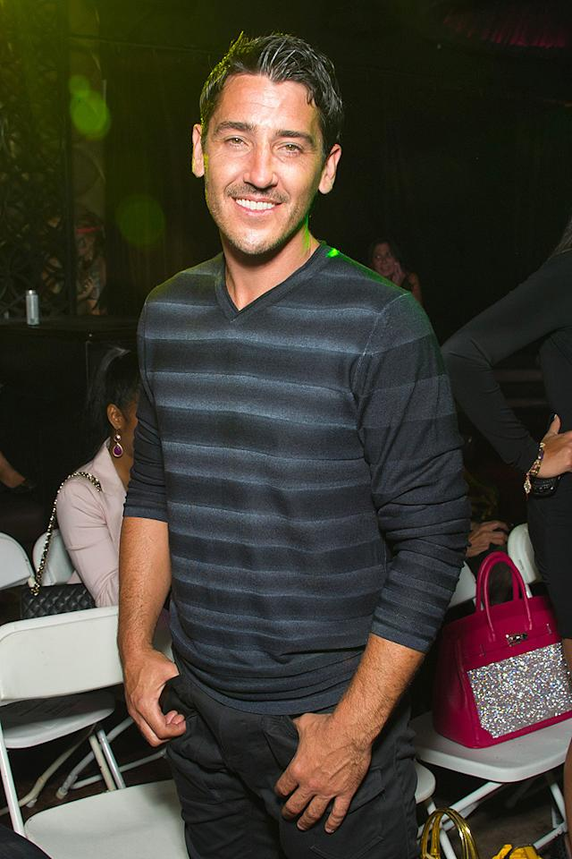 NEW YORK, NY - SEPTEMBER 13:  Musician Jonathen Knight attends the Richie Rich Spring 2012 fashion show during Mercedes-Benz Fashion Week at Lavo on September 13, 2011 in New York City.  (Photo by Michael Stewart/WireImage)