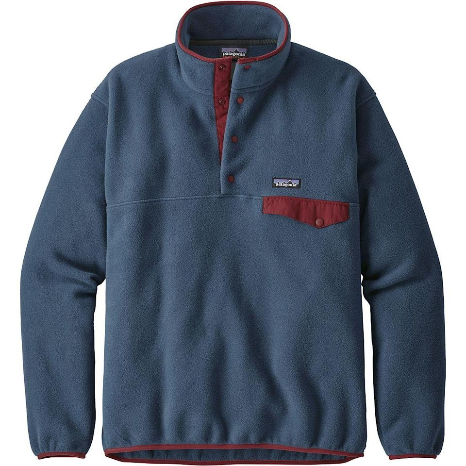 """<p><strong>Patagonia</strong></p><p>backcountry.com</p><p><strong>$83.30</strong></p><p><a href=""""https://go.redirectingat.com?id=74968X1596630&url=https%3A%2F%2Fwww.backcountry.com%2Fpatagonia-lightweight-synchilla-snap-t-fleece-jacket-mens&sref=https%3A%2F%2Fwww.prevention.com%2Flife%2Fg29492086%2Funique-gifts-for-dad%2F"""" rel=""""nofollow noopener"""" target=""""_blank"""" data-ylk=""""slk:Shop Now"""" class=""""link rapid-noclick-resp"""">Shop Now</a></p><p>If your dad doesn't already own a Patagonia fleece, we'll save you some trouble: He definitely wants one. Almost any colorway works—flashier can be better when it comes to fleeces—but we especially love this subdued blue.</p>"""