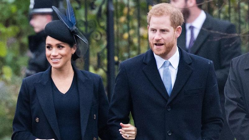 Meghan Markle and Prince Harry Sneak in Some PDA During Royal Outing
