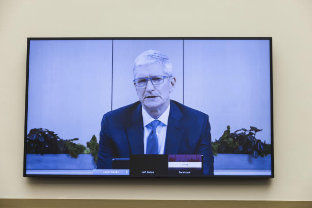 Apple CEO Tim Cook hit with questions on App Store dominance during  antitrust hearing