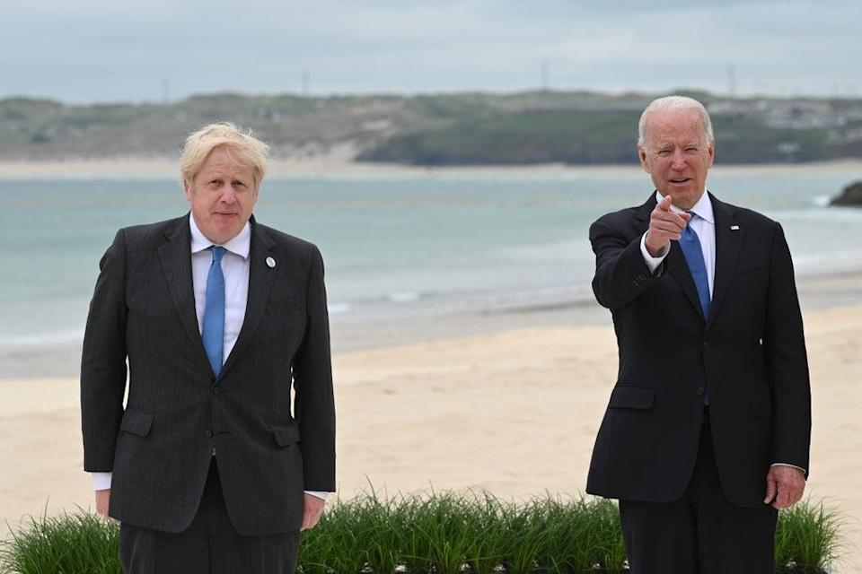 Prime Minister Boris Johnson (left) with US President Joe Biden seen here at the G7 summit in Cornwall, have talked about Afghanistan (PA) (PA Wire)
