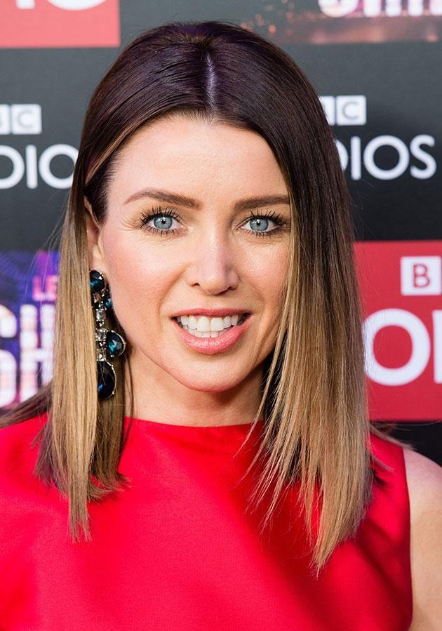 Dannii in December 2016 with extreme dip-dye. Source: Getty