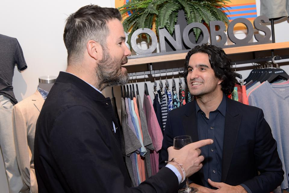 CHICAGO, IL - APRIL 20:  Vice President of Design at Bonobos Dwight Fenton and CEO & Founder at Bonobos Andy Dunn attend Bonobos Michigan Avenue Launch Party at Bonobos Guideshop on April 20, 2016 in Chicago, Illinois.  (Photo by Daniel Boczarski/Getty Images for Bonobos)
