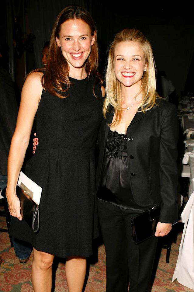 """Jennifer Garner and Reese Witherspoon became fast friends after they met while helping out Hurricane Katrina victims in New Orleans. Jeff Vespa/<a href=""""http://www.wireimage.com"""" target=""""new"""">WireImage.com</a> - October 13, 2006"""