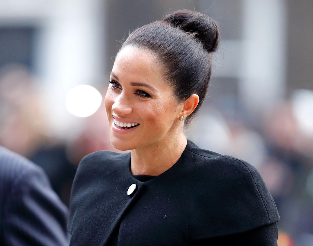 "<p>The Duchess of Sussex kick-started her year by visiting <a href=""https://www.townandcountrymag.com/society/tradition/a25835910/meghan-markle-royal-patronages-charities/"" target=""_blank"">each of her new patronages</a>. Here she is arriving at an event for the Association of Commonwealth Universities. </p>"
