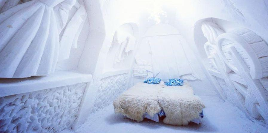 """<p>For a winter experience you won't soon forget, spend the night in an <a href=""""https://www.bestproducts.com/fun-things-to-do/g3122/ice-igloo-hotels-around-the-world/"""" rel=""""nofollow noopener"""" target=""""_blank"""" data-ylk=""""slk:ice hotel"""" class=""""link rapid-noclick-resp"""">ice hotel</a>. These frozen igloos feature hotel rooms, restaurants, bars, and chapels, and they're typically erected in December (and melt by early spring). A few popular ones include Quebec's <a href=""""https://go.redirectingat.com?id=74968X1596630&url=https%3A%2F%2Fwww.tripadvisor.com%2FHotel_Review-g155033-d184516-Reviews-Hotel_de_Glace-Quebec_City_Quebec.html&sref=https%3A%2F%2Fwww.elledecor.com%2Flife-culture%2Fg37430670%2Funique-unusual-hotels-in-the-world%2F"""" rel=""""nofollow noopener"""" target=""""_blank"""" data-ylk=""""slk:Hôtel de Glace"""" class=""""link rapid-noclick-resp"""">Hôtel de Glace</a>, Sweden's <a href=""""https://go.redirectingat.com?id=74968X1596630&url=https%3A%2F%2Fwww.tripadvisor.com%2FHotel_Review-g939981-d259843-Reviews-Icehotel-Jukkasjarvi_Norrbotten_County.html&sref=https%3A%2F%2Fwww.elledecor.com%2Flife-culture%2Fg37430670%2Funique-unusual-hotels-in-the-world%2F"""" rel=""""nofollow noopener"""" target=""""_blank"""" data-ylk=""""slk:ICEHOTEL"""" class=""""link rapid-noclick-resp"""">ICEHOTEL</a>, and Finland's <a href=""""https://go.redirectingat.com?id=74968X1596630&url=https%3A%2F%2Fwww.tripadvisor.com%2FAttraction_Review-g189919-d2540422-Reviews-SnowCastle-Kemi_Lapland.html&sref=https%3A%2F%2Fwww.elledecor.com%2Flife-culture%2Fg37430670%2Funique-unusual-hotels-in-the-world%2F"""" rel=""""nofollow noopener"""" target=""""_blank"""" data-ylk=""""slk:SnowCastle"""" class=""""link rapid-noclick-resp"""">SnowCastle</a> (shown here).<br></p>"""