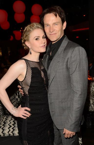 Actors Anna Paquin (L) and Stephen Moyer attend HBO 'True Blood' season 5 premiere after party held at Lure on May 30, 2012 in Hollywood, California. (Photo by Jason Merritt/Getty Images)